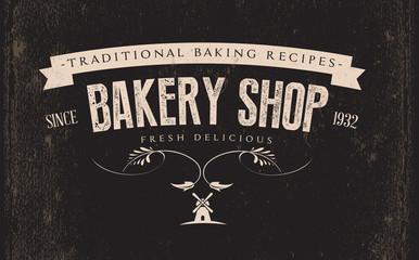 Vintage Retro Bakery  Label