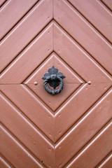 Türklopfer am Tor des alten Spritzenhauses in Alverdissen