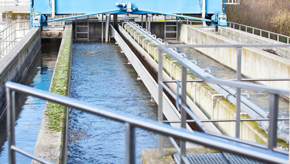 Clarifiying basin in modern sewage plant
