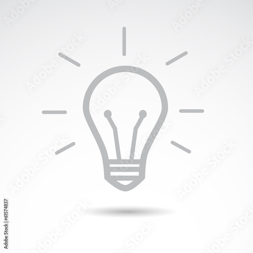 Bulb icon. VECTOR illustration.