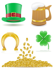 set icons St. Patrick`s day vector illustration