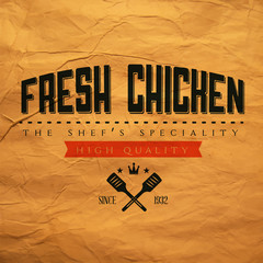 Vintage fresh chicken label