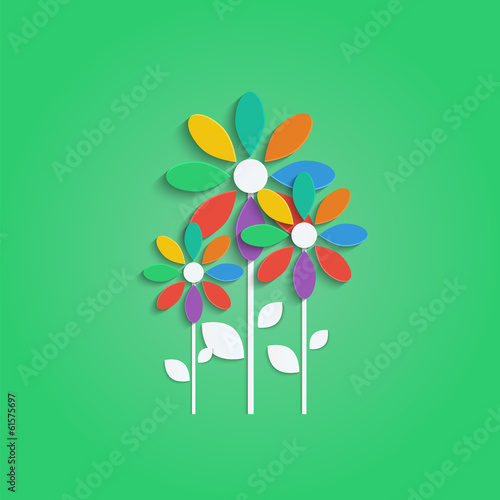 flowers with colorful petals.floral design.vector