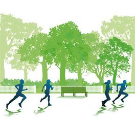 Laufen im Park