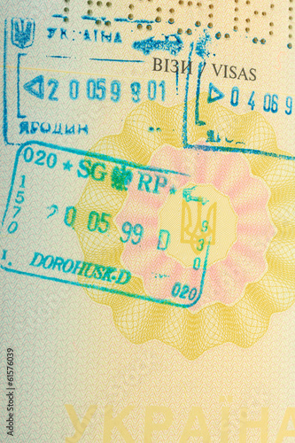Stamps in passport