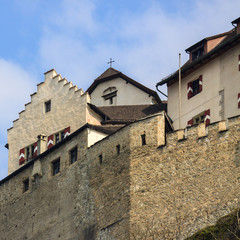 Wall of castle Prince of Liechtenstein