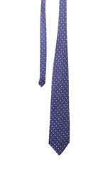 Blue tie with white speck.