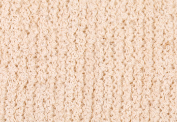Close up of knitted fabric texture.
