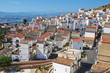 Panoramic view of Pisticci. Basilicata. Italy.