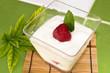 Leinwandbild Motiv Strawberry yoghurt
