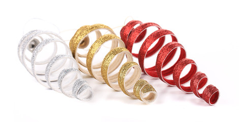 Christmas spiral toy red silver golden.