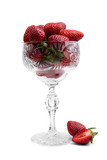 Strawberry in a crystal vase