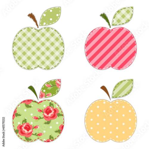 Fabric apples 2