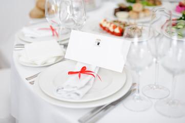 Invitation Card on Plate
