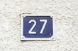 Number twenty.seven on a wall
