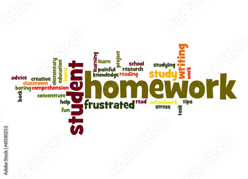 Homework word cloud