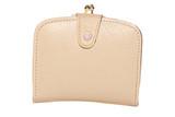 Vintage cream leather purse