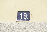 Number nineteen in a wall