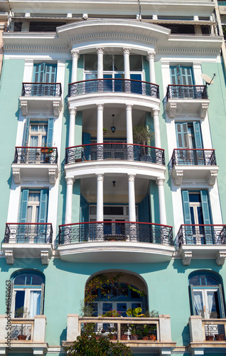 Historic building located at Thessaloniki city in Greece.  Area