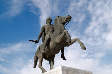 Statue of Alexander the Great at Thessaloniki city in Greece