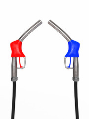 Red and blue fuel nozzles