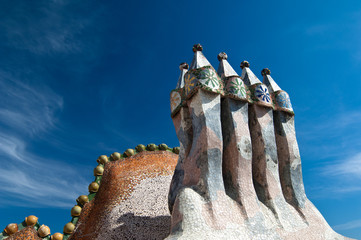 The roof top of Casa Batllo