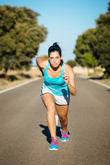 Sporty woman ready for running