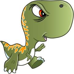 Tough Nasty Tyrannosaurus Rex Dinosaur Vector Illustration