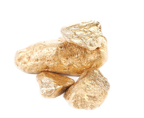 Close up of gold nugget.