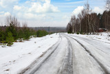 winter dangerous road