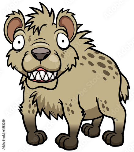 Vector illustration of Cartoon Hyena