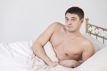 Man on bed