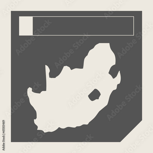 South Africa map button