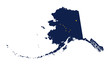 State of Alaska flag map