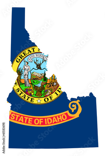 State of Idaho flag map