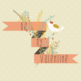 Valentine Greetings Card Design