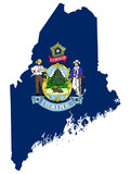 State of Maine flag map
