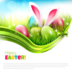 Easter greeting card with place for text