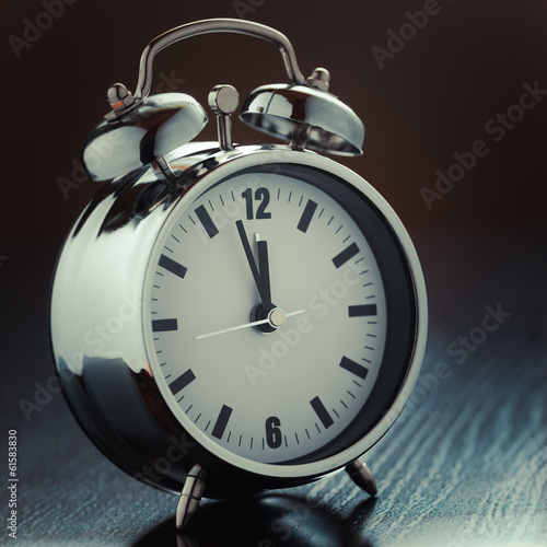 metallic Alarm clock