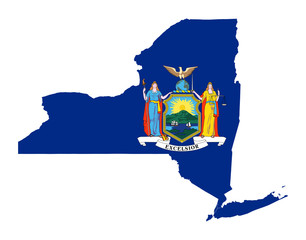 State of New York flag map