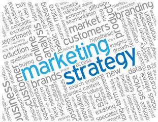 """MARKETING STRATEGY"" Tag Cloud (advertising promotion)"
