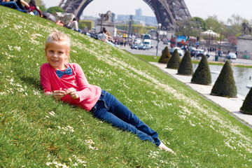Paris Eiffel Tower tourist