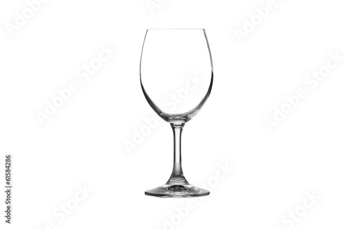 Wine glass isolated.