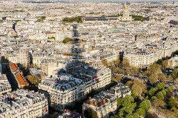 Aerial view from Eiffel Tower - Paris