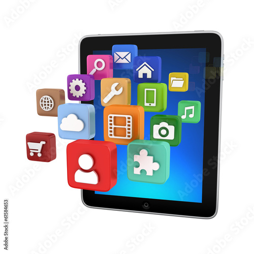 Tablet App icons - isolated on white