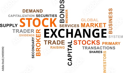 word cloud - stock exchange