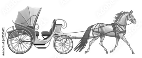 Carriage with horse
