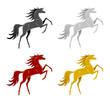Set of horse