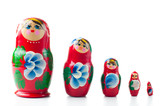 red matryoshka Russian dolls