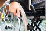 Man using his wheelchair
